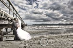 Petone pier with David and Amy. New Zealand #wedding #photography. PaulMichaels of Wellington http://www.paulmichaels.co.nz/