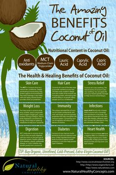 The Amazing Benefits Of Coconut Oil Infographic