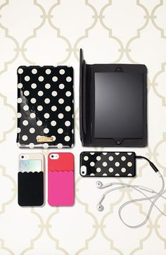 kate spade new york 'scallop pocket' card holder iPhone 5 & 5s case