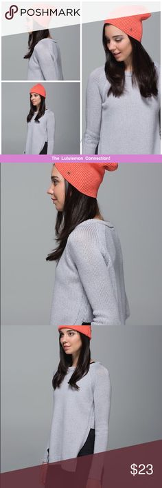 *NWOT* Lululemon Rad Hatter Beanie Coral  *New Without Tags* Slouchy Cotton Toque has never been worn! lululemon athletica Accessories Hats
