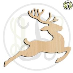 Flying Reindeer No. Christmas Wood, Christmas Time, Christmas Crafts, Christmas Decorations, Christmas Ornaments, Holiday, Christmas Ornament Template, Wood Cutouts, Reindeer