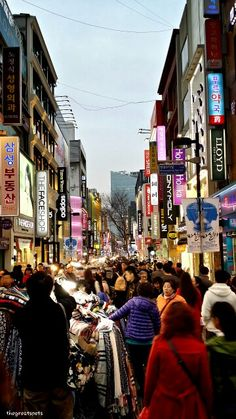 명동거리, Myeongdong street TGIF! YES~ LET'S HANGOUT TOGETHER !!! Myeongdong is known as...The most popular street for shopping in Seoul. The most crowded area for street market. The most expensive land per Pyeong(3.3 square meter) in Seoul. And what else??? You tell me. 금요일 오후의 명동. 네온씨인과 붐비는 사람들로 활기찬 거리를 즐겨요. #myeongdong #seoul #korea