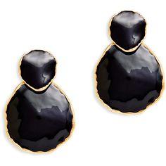 Rental Oscar de la Renta Double Circle Earrings ($30) ❤ liked on Polyvore