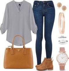 Andrea moda y asesoría: blusa blanca jean claro jean outfits, chic outfits, spring Looks Chic, Looks Style, Casual Looks, Classy Outfits, Chic Outfits, Fashion Outfits, Womens Fashion, Jean Outfits, Work Casual