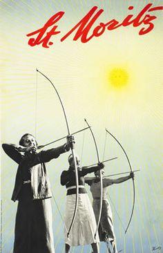 Walter Herdeg, St. Moritz (archers), 1935 ca.