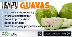 Click on the link to know more! :) #Health #HealthyFruits Guava Benefits, Health Benefits, Healthy Fruits, Healthy Food, Healthy Recipes, Heart Health, Fruits And Vegetables, Turmeric, Anti Aging