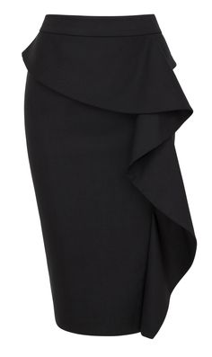 Waterfall pencil skirt – Flirty, flattering and feminine! Waterfall pencil skirt – Flirty, flattering and feminine! Fashion Line, Work Fashion, Classy Outfits, Stylish Outfits, Jeans Rock, Mode Hijab, Mode Inspiration, Ladies Dress Design, Skirt Outfits