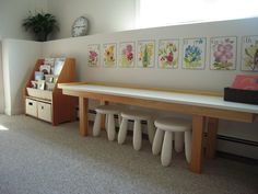 Our Montessori Playroom/Library Space
