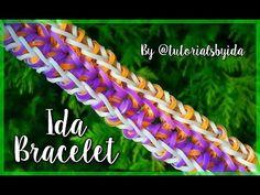 IDA bracelet tutorial | loom - YouTube Rainbow Loom Bracelets Easy, Loom Band Bracelets, Rainbow Loom Tutorials, Loom Bands, Monster Tail, Bracelet Tutorial, Rubber Bands, Youtube, Projects