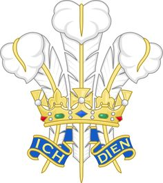 The Prince of Wales's feathers, the heraldic badge of the Prince of Wales is sometimes adapted by Welsh bodies for use in Wales. The symbolism is explained on the article for Edward, the Black Prince, who was the first Prince of Wales to bear the emblem.