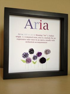 Name Art 3D Paper Art customize with your name and by PaperLine, $35.00