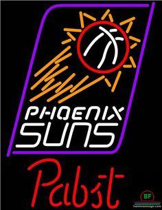 Pabst Blue Ribbon Phoenix Suns Neon Sign NBA Teams Neon Light