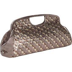 Elliott Lucca Intreccio Clutch Metallic Multi Leather Handbags
