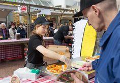 Splizzerian pizzat tuotiin suoraan uunista Hansatorille Hansan Ravintolafest -tapahtumassa.