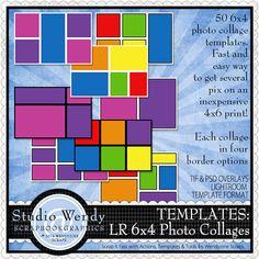 Scrapbookgraphics.com :: Lightroom Presets :: TEMPLATES: Lightroom 6x4 Photo Collages