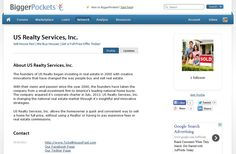 US Realty Services, Inc. on Bigger Pockets! http://www.biggerpockets.com/co/us-realty-services-inc