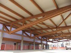 Edificio prefabricado / con estructura de madera / para sala polideportiva COMUN NUOVO Marlegno