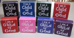 I am a child of God blocks- primary gift