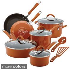 Rachael Ray Cucina Hard Enamel Cookware Set In Bro.- Rachael Ray Cucina Hard Enamel Cookware Set In Brown Rachael Ray Cucina Hard Enamel Cookware Set In Brown - Rachel Ray, Rachael Ray Cookware Set, Enamel Cookware, Earthy Style, Pots And Pans Sets, Pan Set, Bakeware, Espresso, At Least