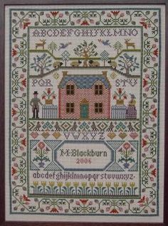 Bothy Threads Country Cottage Sampler Cross Stitch Kit - x Discover more kits by Bothy Threads at LoveCrafts. From knitting & crochet yarn and patterns to embroidery & cross stitch supplies! Shop all the craft materials you need to start your n Cross Stitch Samplers, Counted Cross Stitch Patterns, Cross Stitch Designs, Cross Stitches, Knitting Stitches, Embroidery Sampler, Cross Stitch Embroidery, Embroidery Patterns, Hand Embroidery