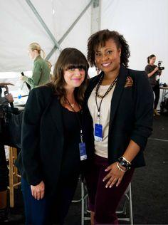 Avon Celebrity Makeup Artist @jamiemakeup  backstage with Avon Representative Georgiana Haynes!