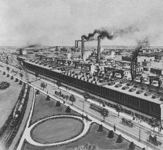 Kentucky Wagon Manufacturing Plant, 3rd Street and Eastern Parkway,Louisville, Kentucky, Est. in 1878. ca. 1930.