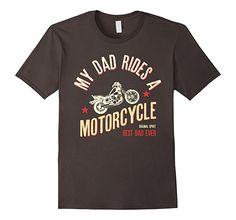 Mens My Dad Rides a Motorcycle - Best Dad Ever T-Shirt 2XL Asphalt. #tshirt  #perfectgift  #kids #cute #forgift #t-shirt #funny #tees #cotton #teeshirt #nerd #geek #tvshow #films #dad #motorcycle #dads