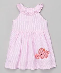 Pink Whale Seersucker Yoke Dress - Infant & Toddler