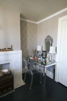 Mirrored Parsons Desk From West Elm Vanity Table Makeup Beauty Room