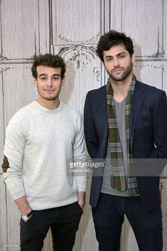 Alberto Rosende (L) and Matthew Daddario attend the Build Series to discuss 'Shadowhunters' at AOL HQ on January 9, 2017 in New York City. (Photo by Chance Yeh/FilmMagic)