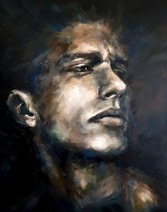 """Malaise"". Original Painting Acrylics on deep edge canvas. 80x100cm. Acrylic Portrait Painting, Lonely, Norway, Original Paintings, Photo Wall, Fine Art, The Originals, Canvas, Acrylics"