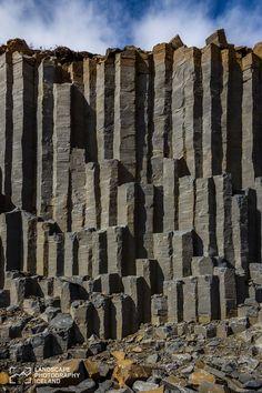 Basalt columns, the wall • Iceland