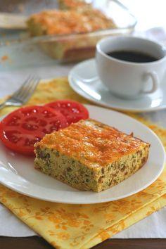 Zucchini Sausage Breakfast Bake