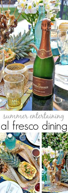 Al Fresco Dining: Delicious Thai food recipes, sparkling wine pairings and tips for easy summer entertaining outdoors. #BeGloriousContest #sponsored