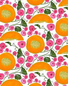 Some #cantalope #melon & #ranunculus I'm so ready for summer #garden #flowers #summer #spring #surtex #surtex2016 #art #artist #sketchbook #painting #paint #gouache #pattern #surfacedesign #surfacedesigner #everytagicanthinkof by anisamakhoul