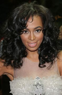 Solange - Celebrities, Kinky hair, Long hair styles, Female, Black hair, Weave hairstyles, Hair extensions Hairstyle Picture