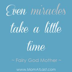 Miracles Take Time | Infertility Quote-maybe someday we'll get a miracle of our own :) #infertility