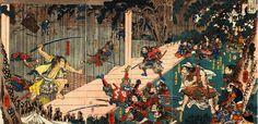 Soga Goro fighting his way toward Yoritomo (Right side)