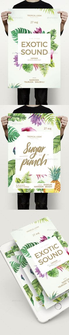 Tropical Flyer — Photoshop PSD #tropical flyer #ibiza • Download ➝ https://graphicriver.net/item/tropical-flyer/20219582?ref=pxcr