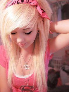 scene hair | blonde scene hair | Tumblr