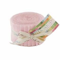 "Moda Bella Solids Light Pink Junior Jelly Roll 20- 2.5"" Strips~Fast Shipping,JR266"