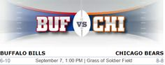 Buffalo Bills vs. Chicago Bears NFL Preview - #BufvsChi #BaffaloBills #Chicagobears #Buffalo #Chicago #NFL #Football