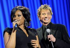 Barry Manilow and Jennifer Hudson.when he was on American Idol