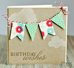 birthday banner card kraft
