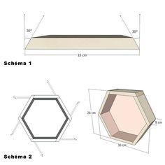 Tutoriel : une étagère hexagonale fabriquée avec une palette