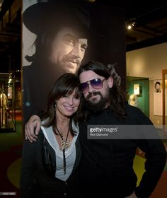 Waylon Jennings Wife & Son Singers/Songwriters Jesse Colter and Shooter Jennings visit the Country Music Hall of Fame and Museum before performing at the Nikki Mitchell Foundation: An Intimate Celebration at Country Music Hall of Fame and Museum on April 1, 2015 in Nashville, Tennessee.