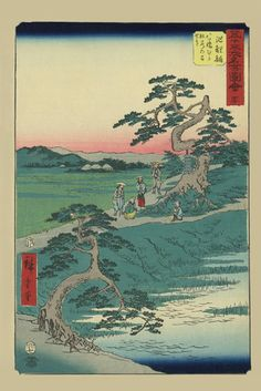 Chiryu, 53 Stations of the Tokaido, by Utagawa Hiroshige