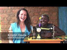 Kristin Davis introduces Fiona - World Refugee Day 2015