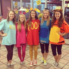 Homemade Winnie the Pooh and friends Halloween costumes