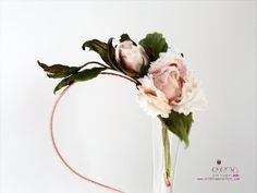Silk flower Rose Bridal hair piece with matching от SilkFlowerArt